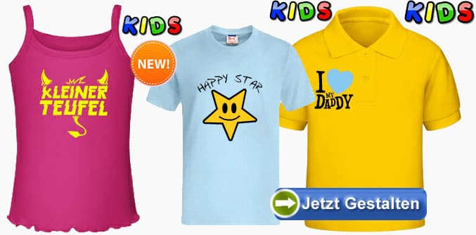 kinder t shirts selbst gestalten und individuell bedrucken lassen. Black Bedroom Furniture Sets. Home Design Ideas