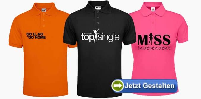 on sale 9346b 59fdb Poloshirt selber bedrucken und online gestalten